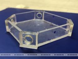 Заглушка из оргстекла 5 мм с метрической резьбой