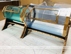 Лототрон 400 х240 мм.  барабан, высота 400 мм. «Золотой Металлик»