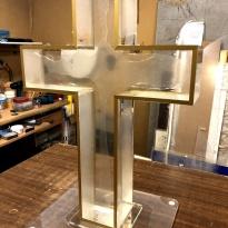 Католический крест из Оргстекла  8мм