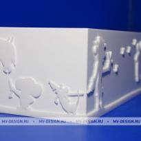 Коробка из белого оргстекла на заказ