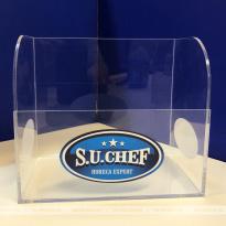 Ящик из оргстекла для хранения соусов