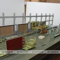 Архитектурный макет технологической линии завода