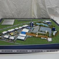 Архитектурный макет зданий. ТехноПарк