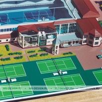 Архитектурный макет теннисного клуба «Валери»